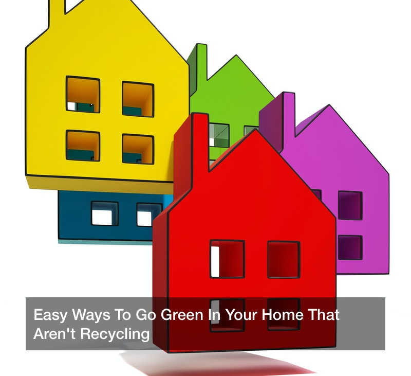 Easy Ways To Go Green In Your Home That Aren't Recycling